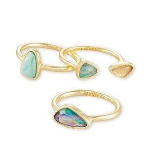 Kendra Scott gold ivy ring set